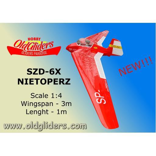 SZD- 6X Nietoperz 1:4 Kit