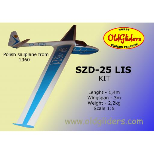 SZD-25 Lis 1:5 Kit (Wooden)