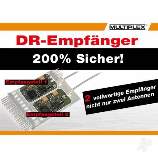 Multiplex WINGSTABI 12-channel 3-axis Gyro Dual-Rx, 35A battery backer (55016)